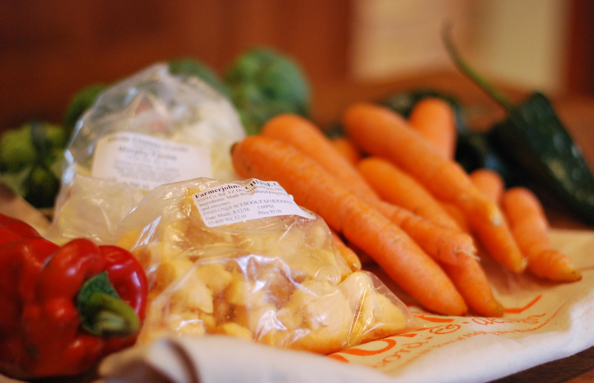fresh produce from Wisconsin farmers markets