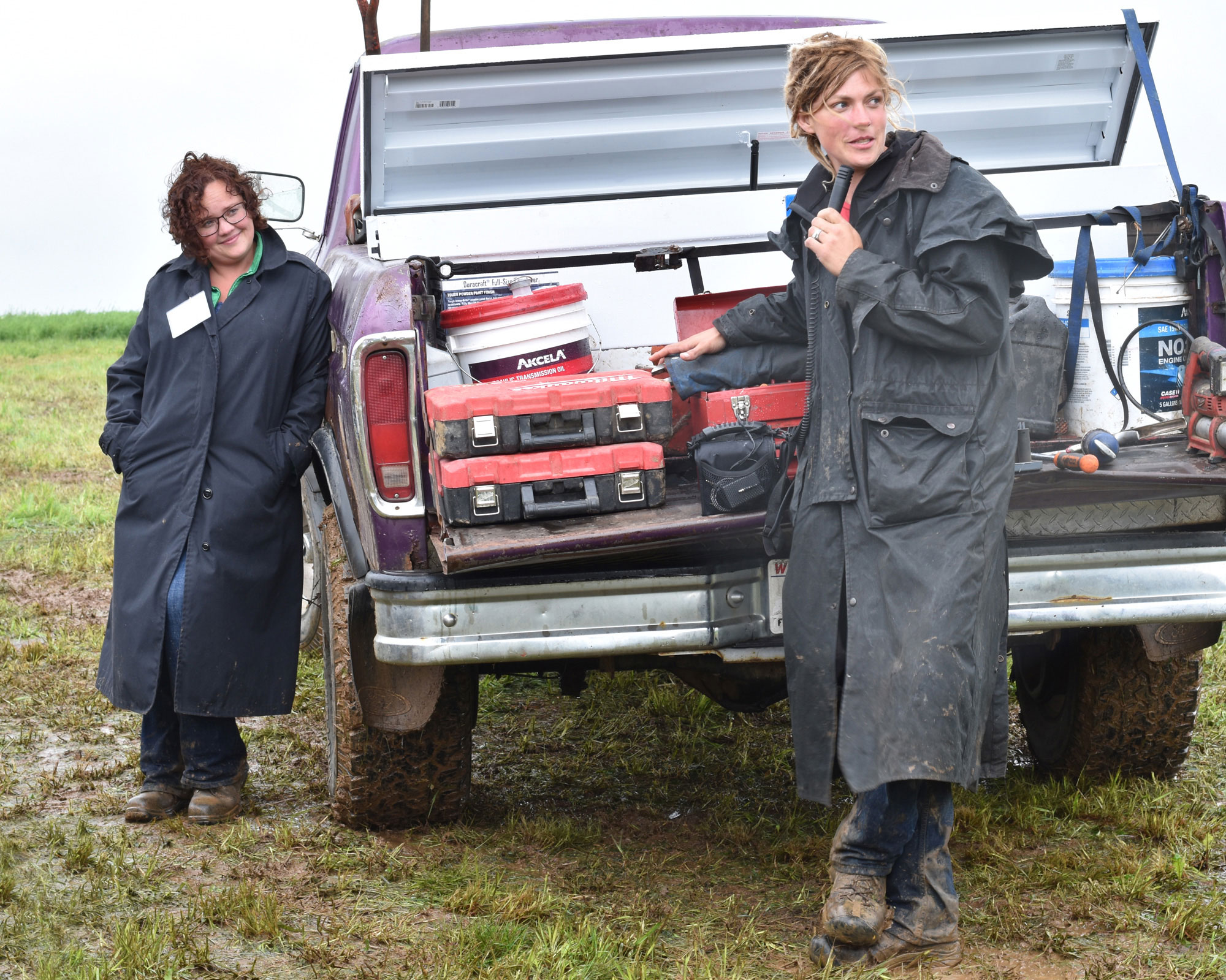 Brandi Harris and Emily Harris, Wylymar Farms, Monroe, WI