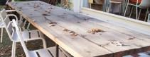 Grunewald Tisch mit Graubildung durch die Witterung