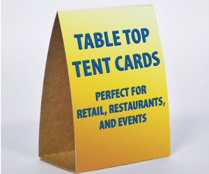 Tent Cards Table Tents San Diego