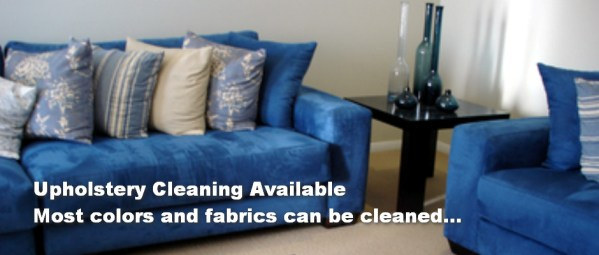 upholstery cleaning available