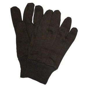 Brown Jersey Gloves