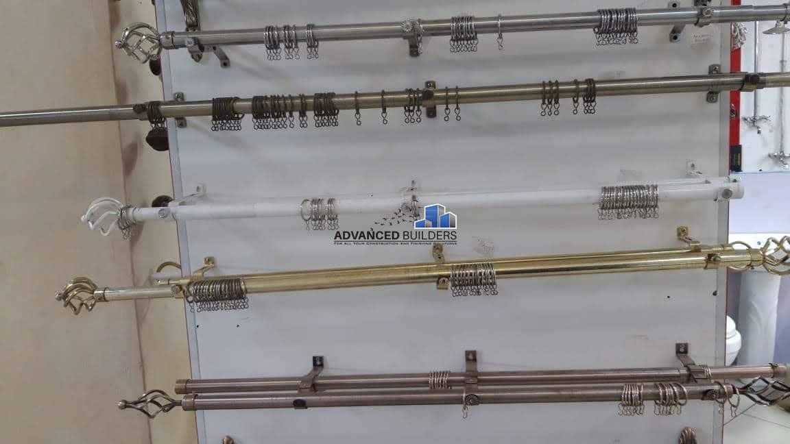 curtain rods brown 3 meters