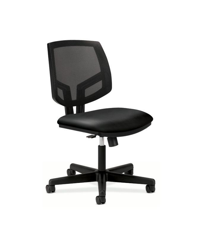 HON Volt Mesh Back Task Chair | Synchro-Tilt | Black SofThread Leather