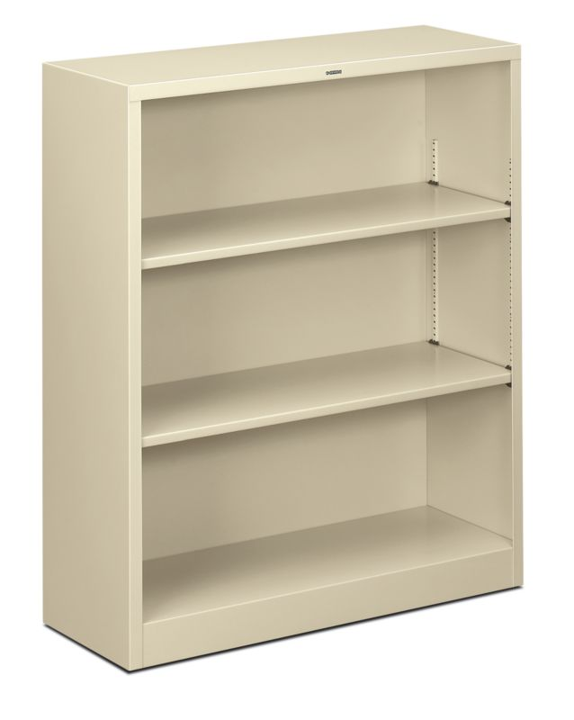 "HON Brigade Steel Bookcase | 3 Shelves | 34-1/2""W | Putty Finish"