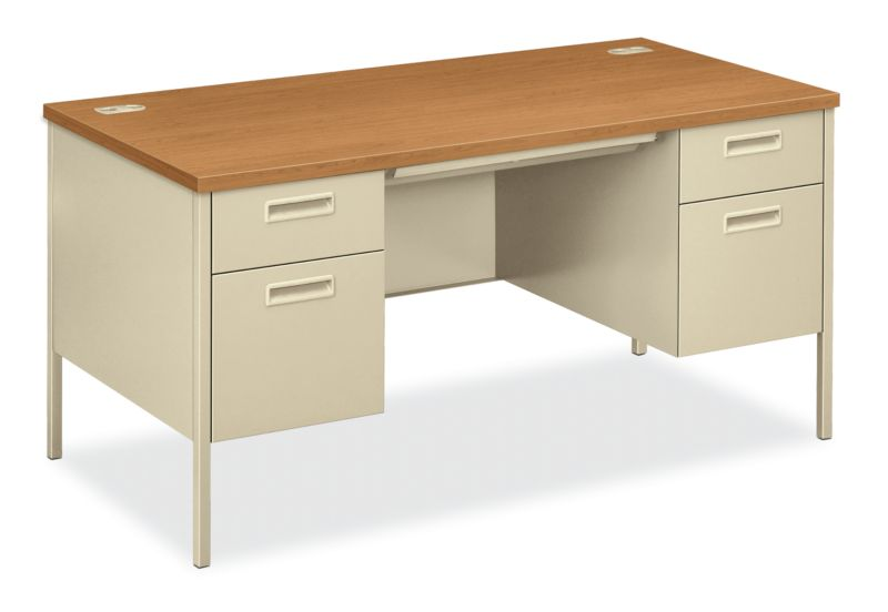 "HON Metro Classic Double Pedestal Desk | 2 Box / 2 File Drawers | 60""W 