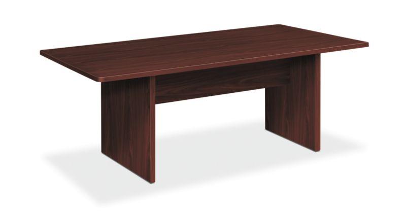 "HON Foundation Conference Table | Rectangle | Panel Base | 72""W | Mahogany Finish"