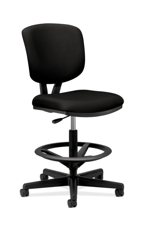 HON Volt Task Stool | Extended Height, Footring | Black Fabric