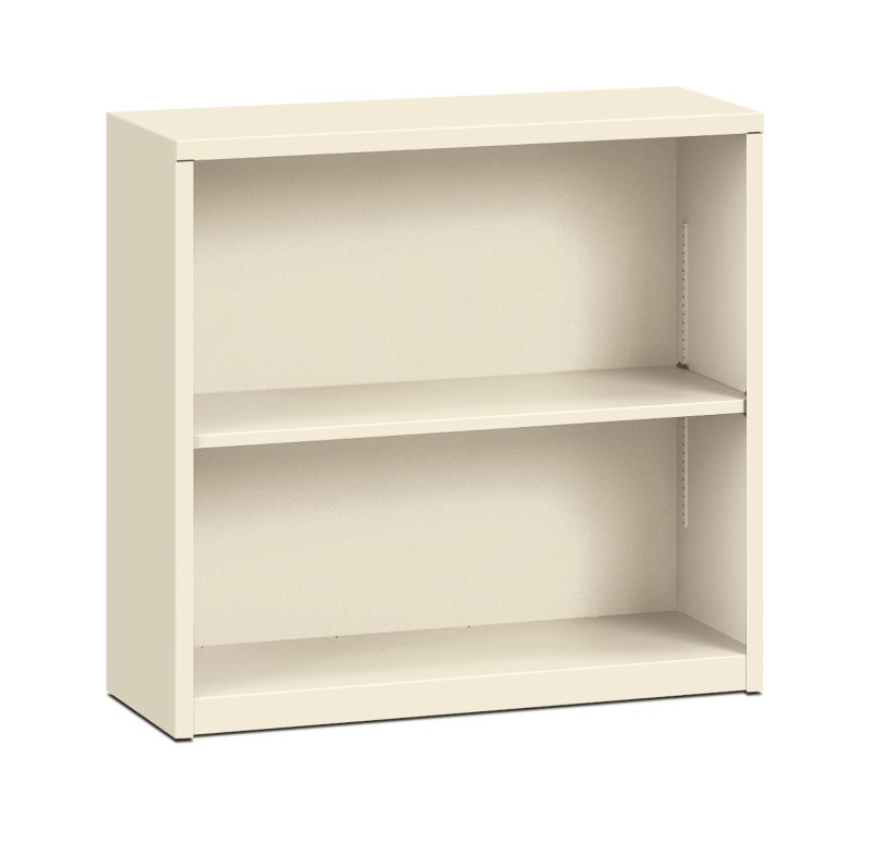 "HON Brigade Steel Bookcase | 2 Shelves | 34-1/2""W | Putty Finish"