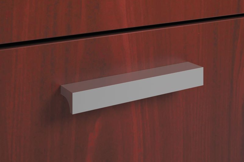 HON BL Series Field Installed Contemporary Pull | Silver | 2-Pack