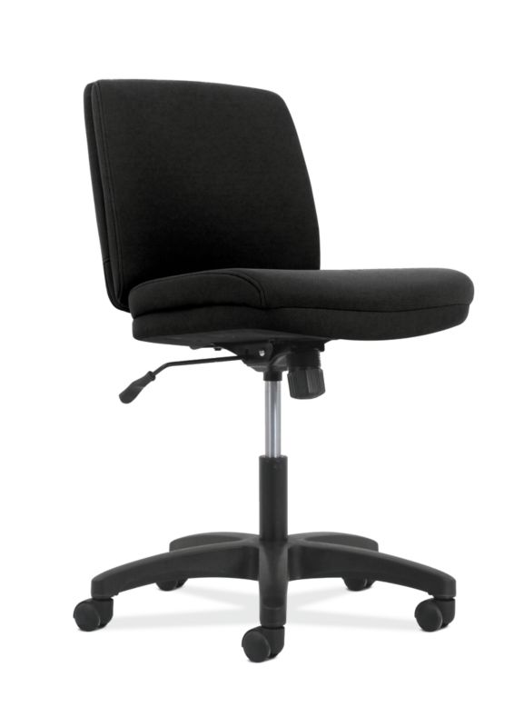 HON Contemporary Low-Back Task Chair | Swivel-Tilt Control | Armless | Black Fabric