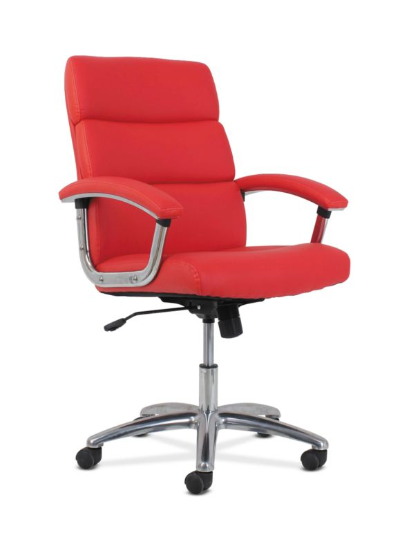HON Traction High-Back Modern Executive Chair | Red Leather
