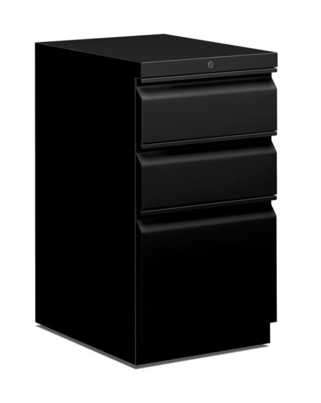 """HON Pedestal File   Box/Box/File   20""""D   Black"""