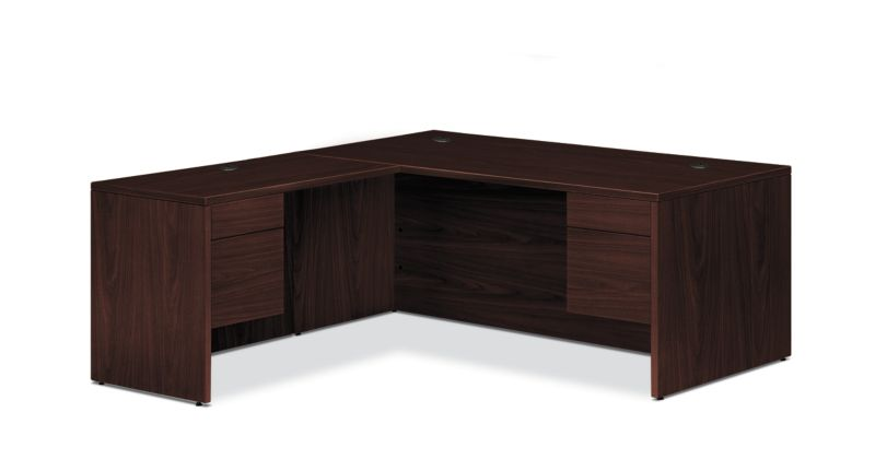 "HON 10500 Series L-Workstation | 3/4 Pedestals | 2 Box / 2 File Drawers | 66""W 