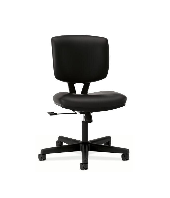 HON Volt Task Chair | Center-Tilt | Black SofThread Leather