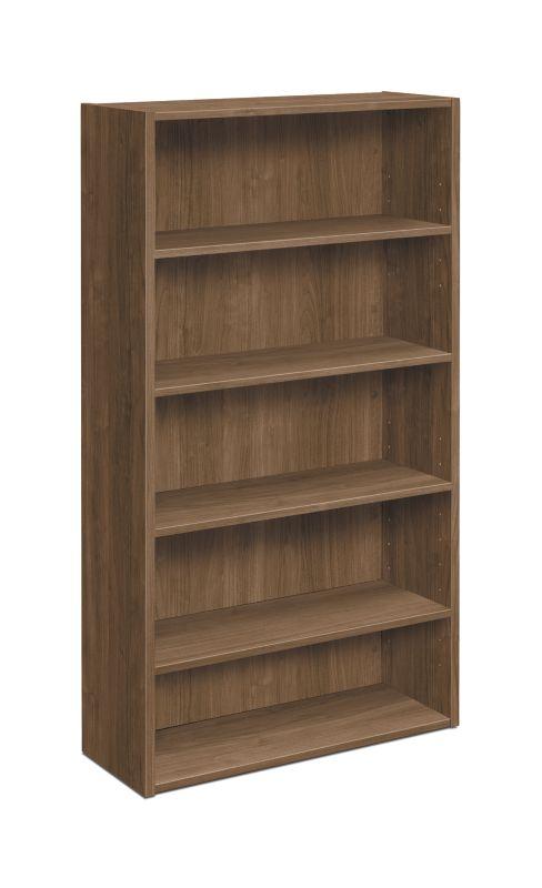 "HON Foundation Bookcase | 5 Shelves | 32""W | Pinnacle Finish"