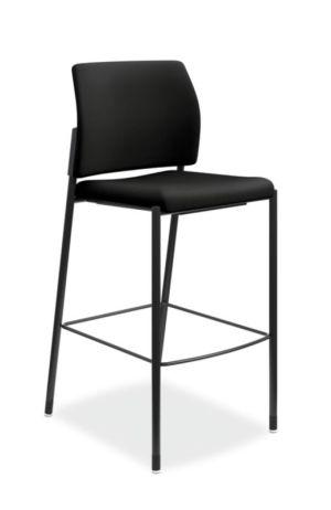 HON Accommodate Cafe Stool | Black Fabric | Textured Black Frame | Armless