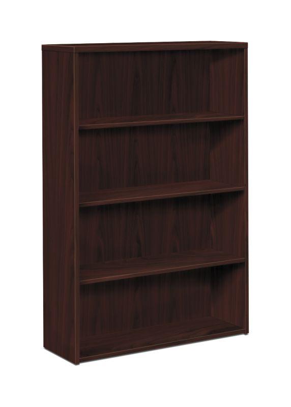 """HON 10500 Series Bookcase   4 Shelves   36""""W   Mahogany Finish"""