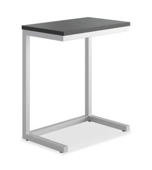 HON Cantilever Table | 17-1/2″W | Black Finish