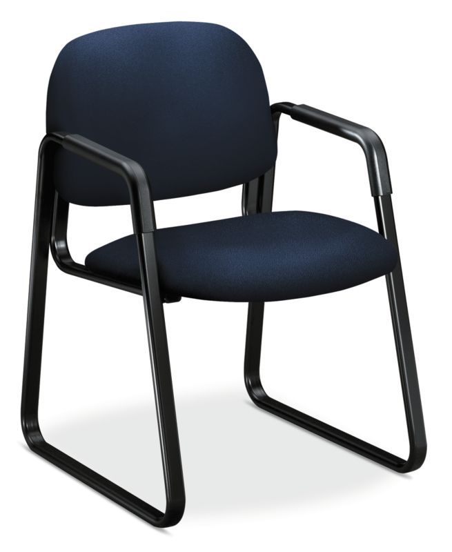 HON Solutions Seating Guest Chair   Sled Base   Navy Fabric