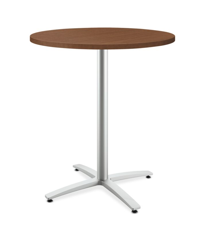 "HON Between Round Table | Standing Height X-Base | 36""D 