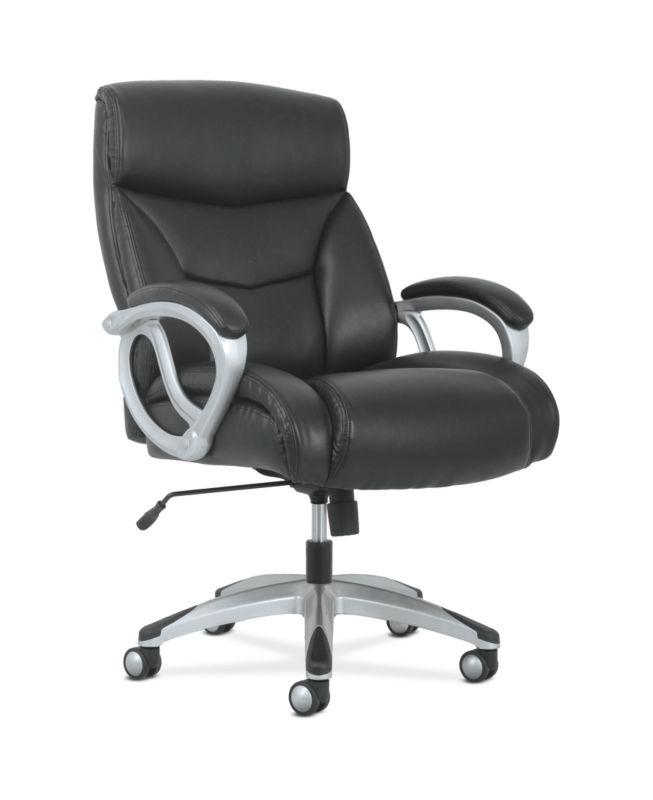 Sadie Big and Tall High-Back Executive Chair | Black Leather