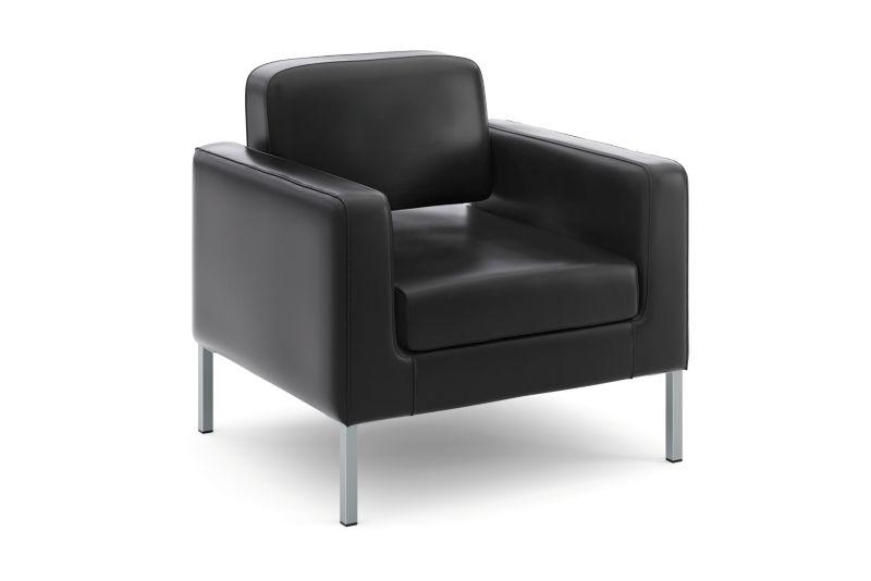 HON Corral Club Chair | Black SofThread Leather