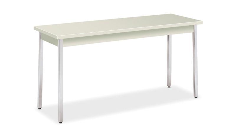 """HON Utility Table   60""""W x 20""""D x 29""""H   Loft Laminate   Loft Finish   Chrome Leg Finish"""