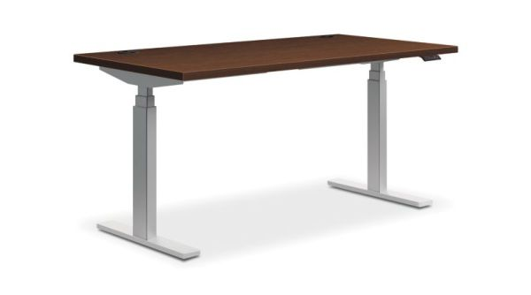 "HON Coordinate Height-Adjustable Table | Shaker Cherry Laminate | 72""W x 30""D"