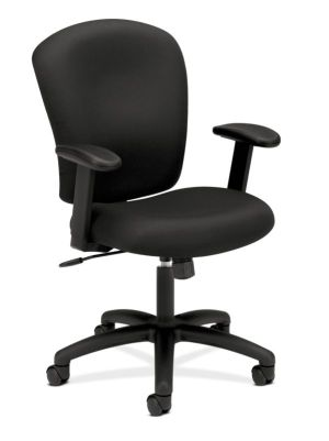 HON Mid-Back Task Chair | Center-Tilt, Tension, Lock | Adjustable Arms | Black Fabric