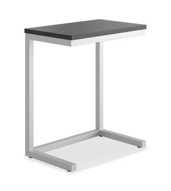 "HON Cantilever Table | 17-1/2""W x 9-7/8""D | Black Finish"