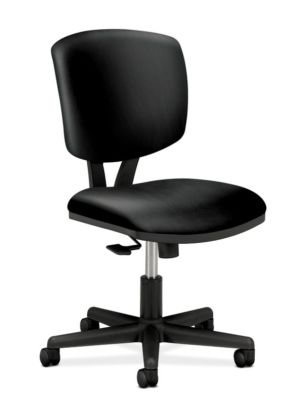 HON Volt Task Chair | Synchro-Tilt, Tension, Lock | Black SofThread Leather