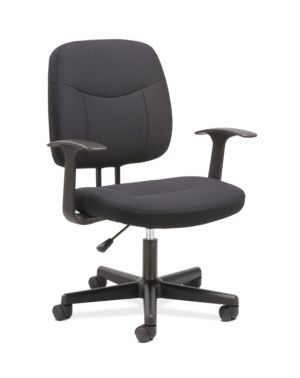 Sadie Task Chair | Fixed Arms | Black Fabric
