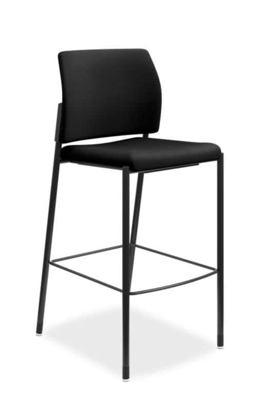 HON Accommodate Cafe Stool | Black Fabric | Textured Black Frame | Armless