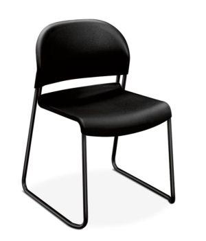 HON GuestStacker High-Density Stacking Chair | Onyx Shell | 4 per Carton