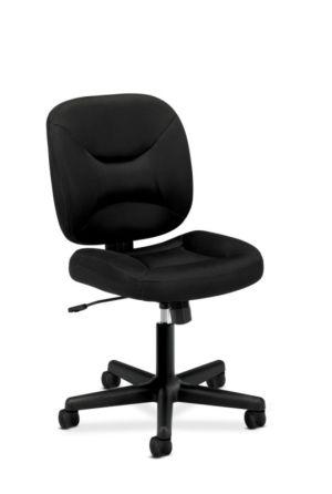 HON ValuTask Low-Back Task Chair | Center-Tilt, Tension, Lock | Black Sandwich Mesh