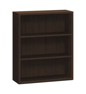 HON 10500 Series Bookcase | 3 Shelves | 36″W x 13-1/8″D x 43-3/8″H | Mocha Finish