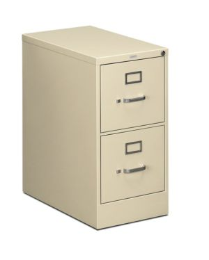 HON 510 Series Vertical File | 2 Drawers | Letter Width | 15″W x 25″D x 29″H | Putty Finish