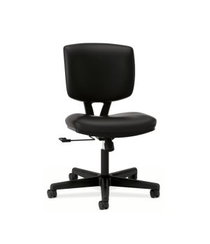 HON Volt Task Chair | Center-Tilt, Tension, Lock | Black SofThread Leather