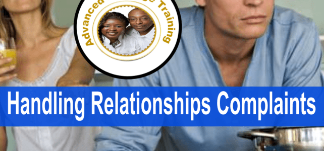 How to handle relationship complaints?