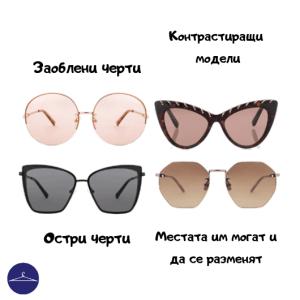 Рамки за очила за остри и заоблени черти