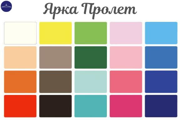 Цветови анализ за Ярка Пролет грим