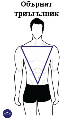 Мъжки силует Обърнат триъгълник