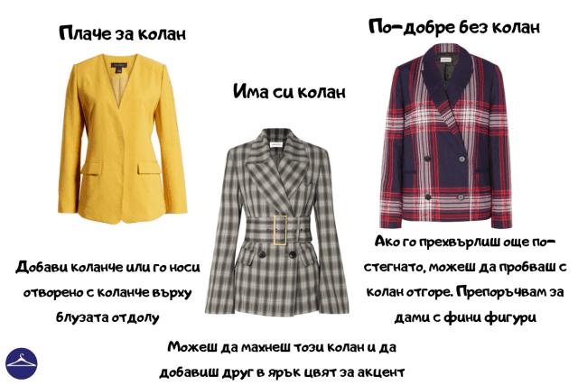 колан върху палто