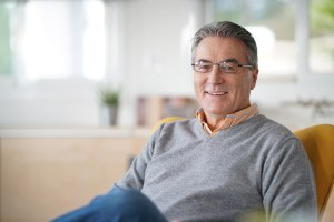 Mature man smiling