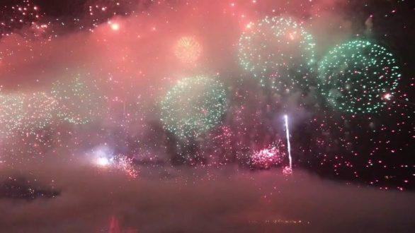 Copacabana Beach New Year Fireworks