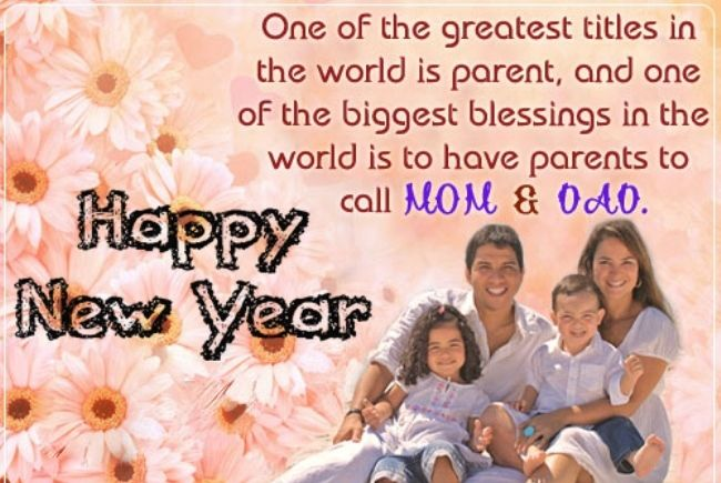 best happy new year 2019 wishes for parents
