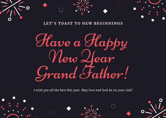 happy new year messages wishes for grandfathers