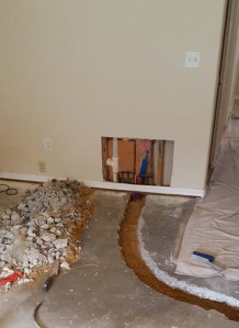 Advance Plumbing solutions detects leaks in concrete floors, leak detection leak repair