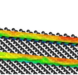 DNS and LES of turbulent flow in a closed channel featuring a pattern of hemispherical roughness elements advances in engineering 2